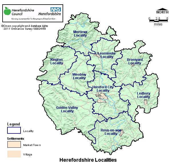 Maps Herefordshire Association of Local Councils